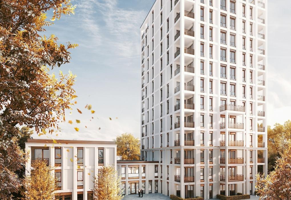 Hochhaus Brackestraße (Visualisierung Fuchshuber Architekten)